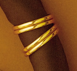Gold Ring Scarf Slide