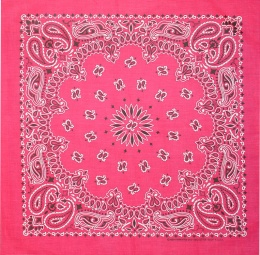 Hot Pink Paisley Bandannas,100% cotton
