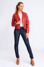 Katja Red Leather