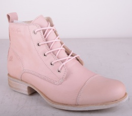 Lace Zip Boot Pink