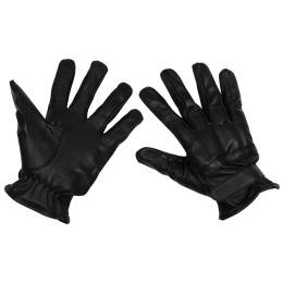 Leather Gloves Sandfilling Black