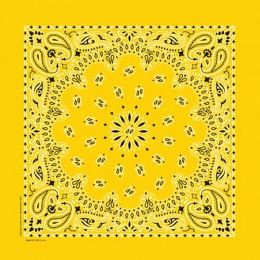 Lemon Yellow Paisley Bandannas, 100% cotton