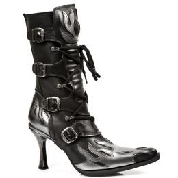 9591-C20 Black/Silver Boot