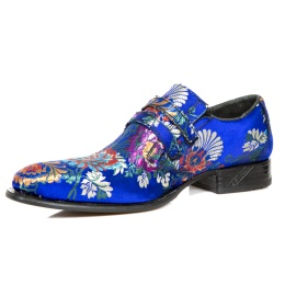 NW2288-S18 Blue Azul Textile Flower