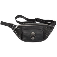 WAISTBAG3-S1 NEW ROCK BLACK LEATHER