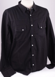 Memphis Black Denim Shirt