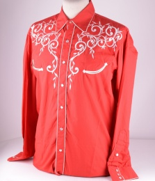 Red Embroidery Shirt