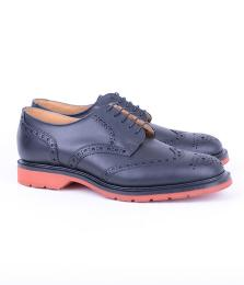 Derby 5 Eye Black Brogue