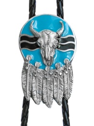 Steer & Feathers Bolo Tie