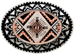 Sunburst Copper Belt Buckle