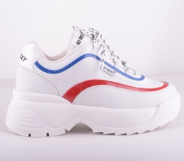 Track Vegan White/Red/Blue