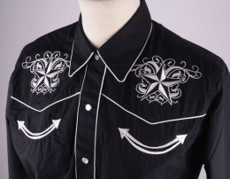 Women Western Shirt Black
