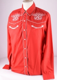 Womens Western Shirt Red