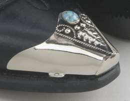WX-22 Turquoise Boot Tips  Silver Plated