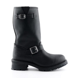 Turbo Black Engineer Boot