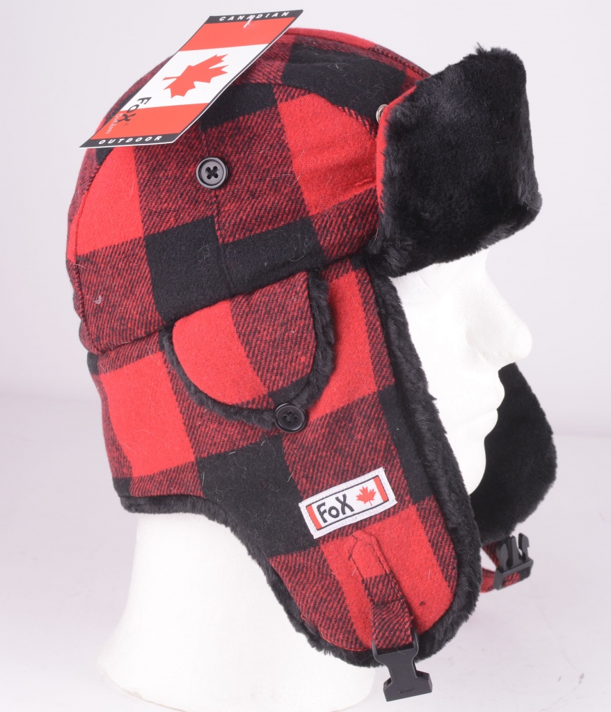 10033 Lumberjack Hat Red/Black