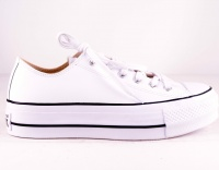All Star Platå Leather White OX