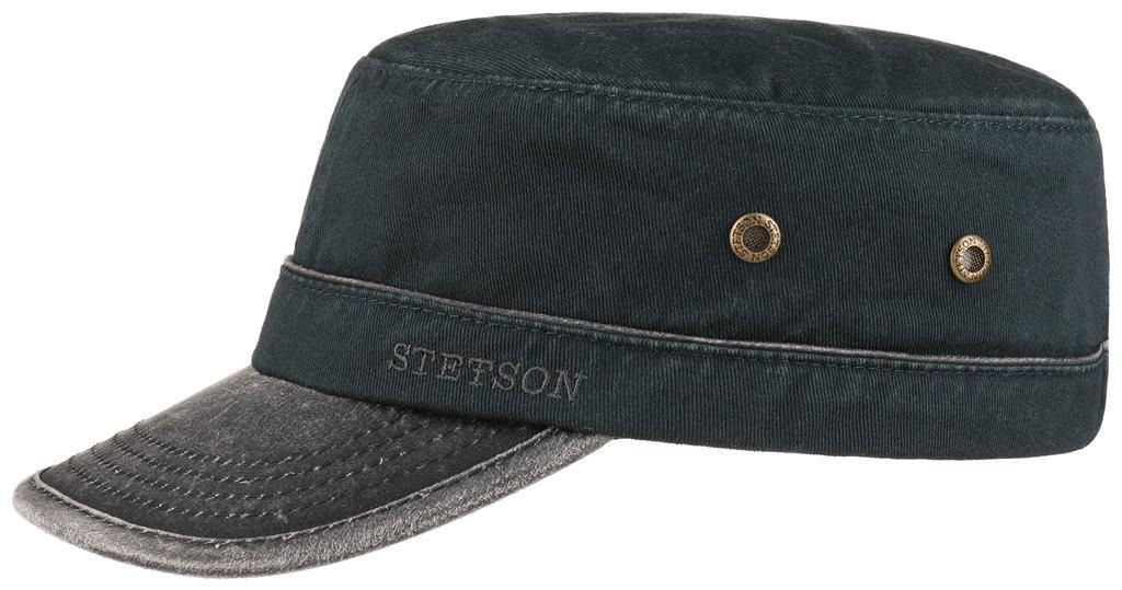 Army Cap Cotton Petrol Blue