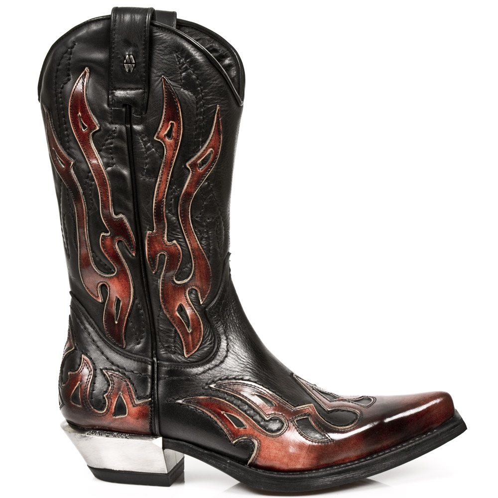 7921-S2 Flames Zip Cowboy Boot