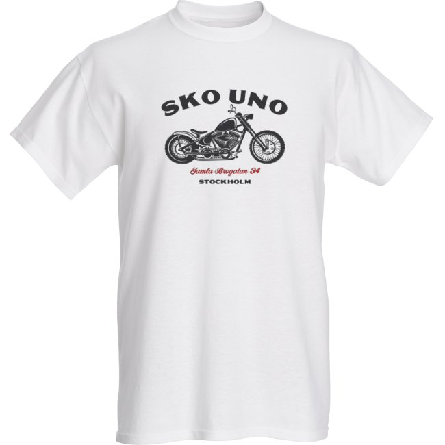 Motorcycle Tee White