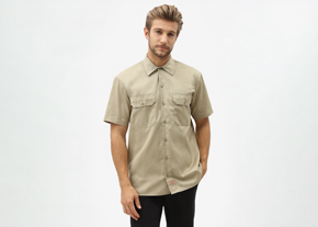 S/S Work Shirt Khaki 1574