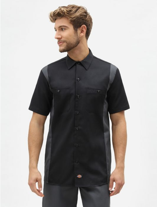 Two-Tone Workshirt Black/Charcoal
