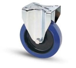 Fast hjul Ø160 mm, platta