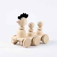 Fred - Wooden Rooster and Chicks - Sarah and Bendrix