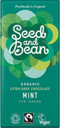 72% choklad - mint - Seed and Bean