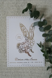 Birth poster - GOLD - Adore us babies