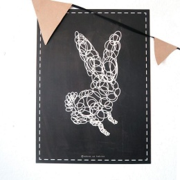 Bunny poster - Chalkboard - Adore us Babies
