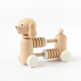 Bartholomew - Wooden Dog Counter / Rattle - Sarah and Bendrix