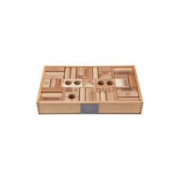 Peace & Love Byggklossar  - Wooden Story