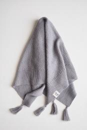 Tyra Knitted Blanket - Grey - By Heritage