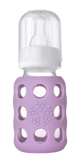 Glass Baby Bottle 120 ml - LILA - Lifefactory