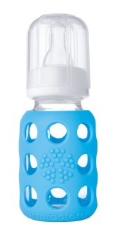 Glass Baby Bottle 120 ml - SKY BLUE - Lifefactory