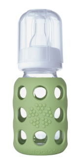 Glass Baby Bottle 120 ml - Spring Green - Lifefactory
