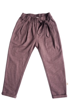 Alma Trouser - Dark Plum - By Heritage