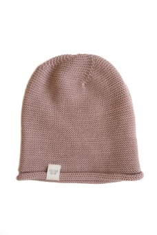 Birger Knitted beanie - Old Pink - By Heritage