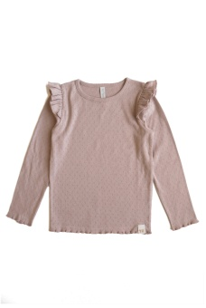 Elvira Top Pointelle - Old Pink - By Heritage