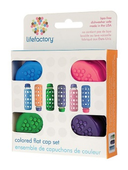 Colorcaps - 4 pack - Lifefactory