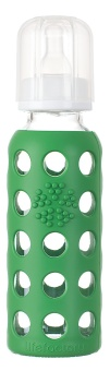 Lifefactory - Glass Baby Bottle  250 ml - Grass Green