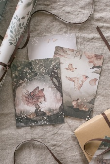 2 - pack Cards - Woods & Birds - Mrs Mighetto