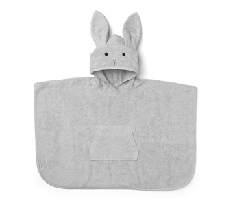 Orla Poncho - Rabbit Grey - Liewood