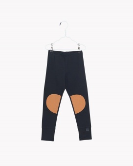 Patch Leggings - Black/Monkey Brown - Papu