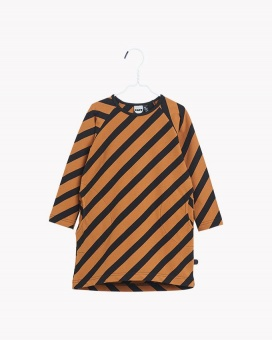 Stripe Oval Tunic - Black/Monkey Brown - Papu
