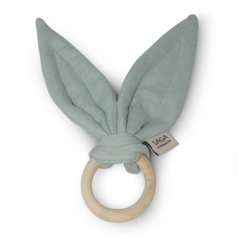 Teething Ring Alta - Dusty Green - Saga Copenhagen