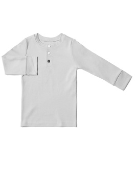 Kids Pyjamas Top - Grey - The Sleepy Collection