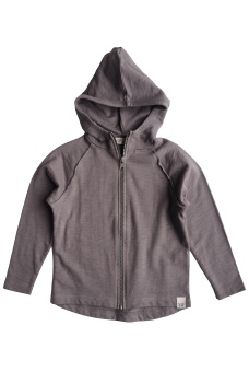 Ziggy Hood Jacket - Warm Grey - By Heritage