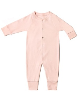 Baby Sleepsuit - Powder Pink - The Sleepy Collection